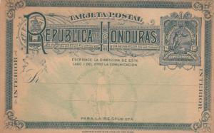 Card , 2 Centavos , HONDURAS , 1890s ; Version-2