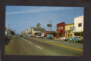CA Stores Bank of America Rexall Drug Store Fort Ft Bragg California Postcard