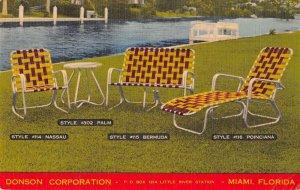 Miami Florida Donson Corp Lawn Furniture Ad Vintage Postcard AA21069