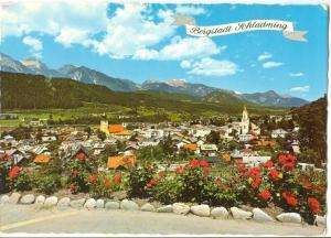 Austria, Bergstadt schladming, 1980s used Postcard