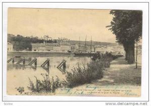 Sailing ship, Seine-inferieure, SAINT VALERY-en-CAUX, Le Bassin et le Quai du...
