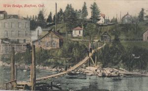RENFREW ,Ontario , Canada , 1908 ; Wire Bridge