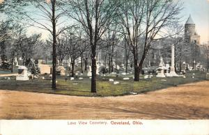 Cleveland OH~Garfield Monument in SW Part of Lake View Cementery~Tombstones 1906
