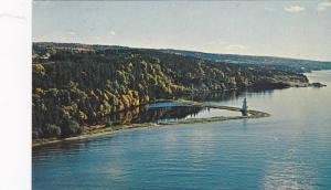 LIGHTHOUSE, The Bras d'Or Lakes As Seen From The Bras d'Or Bridge, Cape Breto...