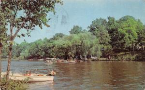 Monticello Indiana~Lake Shafer near Ripley Camp & Jackman Lodge~c1960s Postcard