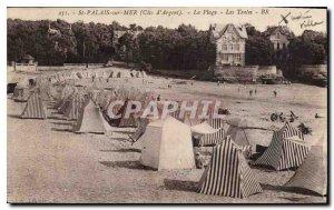Postcard Old St palais sur Mer Cote d'Argent The Beach Tents