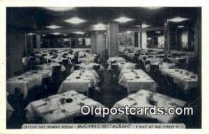 McGinnis Restaurant, New York City, NYC Postcard Post Card USA Old Vintage An...