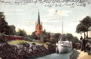 Sweden Old Vintage Antique Post Card Trollhatte Canal 1907