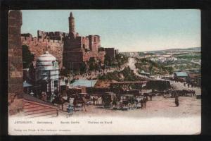 061045 Jerusalem Davids Castle  Vintage PC
