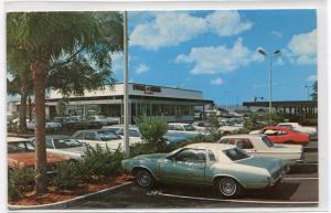 Steak 'n Shake Restaurant Cars St Petersburg Florida 1976 postcard
