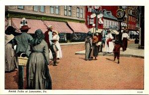 Pennsylvania Amish Folks Of Lancaster County Curteich