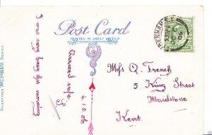 Genealogy Postcard - Family History - French - Maidstone - Kent   BX197
