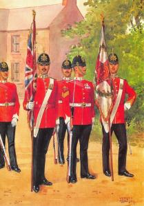 Military Art Postcard The Essex Regiment,  The Colours  #27-4