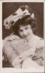 Miss Madge Lessing edwardian actress nostalgia Rotary Photo