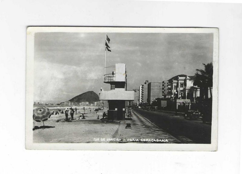 Vtg 1945 RPPC Rio De Janeiro, Brazil Photo Postcard