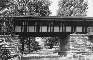 F24/ Dubuque Iowa Real Photo RPPC Postcard 1950 Eagle Point Park Bridge