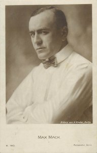 Actor MAX MACK early postcard