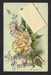 MA Greetings From Newburyport Mass w/ Note Massachusetts Vintage Postcard