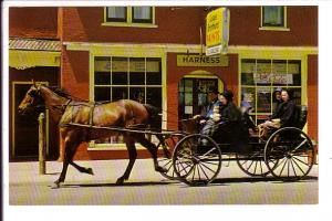 Mennonite Family, Horse and Buggy, St Jacobs near Kitchener, Ontario,