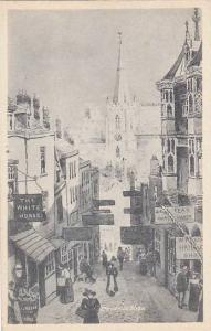 Street Scene, Store Fronts: The White Horse, Watch Maker Store, Etc., Christm...
