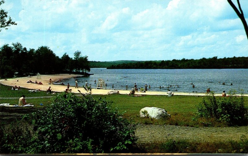Pennsylvania Tobyhanna State Park Bathing Beach On The Lake