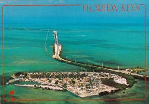 Florida Keys Aerial View Fiesta Key Looking North Showing Fiesta Key KOA Camp...