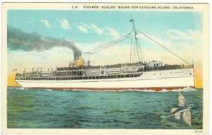 Steamer  Avalon,  Bound for Catalina Isld, CA, 10-20s
