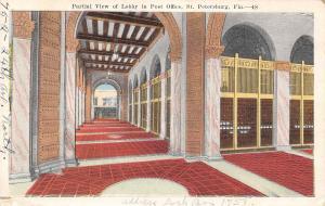 St Petersburg FL Interior Hallways & Lobby in the Post Office 1924 White Border