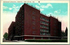 1930s Fort Wayne, Indiana Postcard METHODIST EPISCOPAL HOSPITAL Tichnor Unused