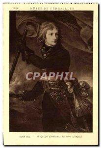 Old Postcard Musee De Versailles Baron Gros Napoleon Bonaparte at the Bridge ...
