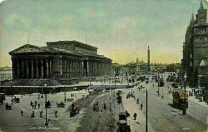 Liverpool Lime Street Tram Horse Carriage Rides Postcard