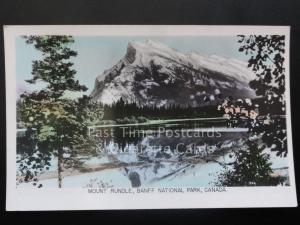 Canada: Mount Rundle, Banff National Park c1940's RP by Gowen Sutton Co