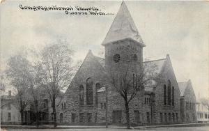 Michigan Mi Postcard c1910 OWOSO Congregational Church Building