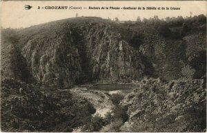 CPA CROZANT Rocher de la Fileuse - Confluent de Sedelle et de Creuse (1143576)