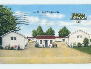 Linen CEDAR COTTAGES MOTEL Albany Georgia GA M6296