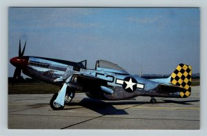 Wright Patterson Air Force Base OH, North American P-51D, Chrome Ohio Postcard
