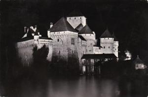 Switzerland Le CHateau de Chillon illumine Photo