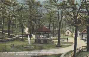 Missouri El Dorado Springs Center View Of Spring Park Surrounding Main Spring