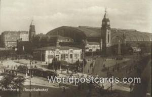 Hamburg Germany, Deutschland Postcard Hauptbahnhof  Hauptbahnhof