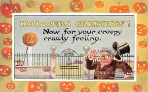 Halloween Post Card Old Vintage Antique Gibson Art Co. Unused