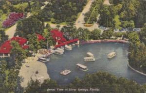 Florida Silver Springs Aerial View Curteich
