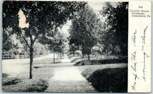 1907 Johnstown, Pennsylvania Postcard Fayette Street, Westmont Residential