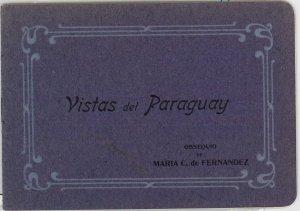 PARAGUAY -  Vintage Postcard - ADVERTISING BOOKLET with VIEWS - Ñandutí LACE #2
