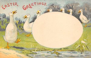 Transparencies Hold to Light Post Card Easter Greetings Unused