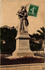 CPA MENTON Monument Commemoratif de la Reunion de MENTON (617016)