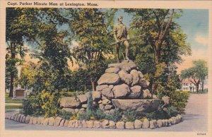 Massachusetts Lexington Capt Parker Minute Man At Lexington