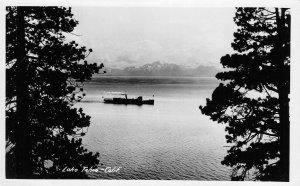 RPPC Lake Tahoe, California Steamboat ca 1930s Vintage Postcard