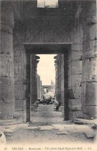 Egypt Thebes Ramaseum, View from Small Hypostyle Hall