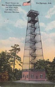 Observation Tower on Hot Springs Mountain - Arkansas - pm 1920 - DB
