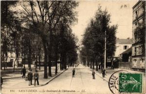 CPA  Saint-Denis - Le Boulevard de Cháteaudun   (740416)